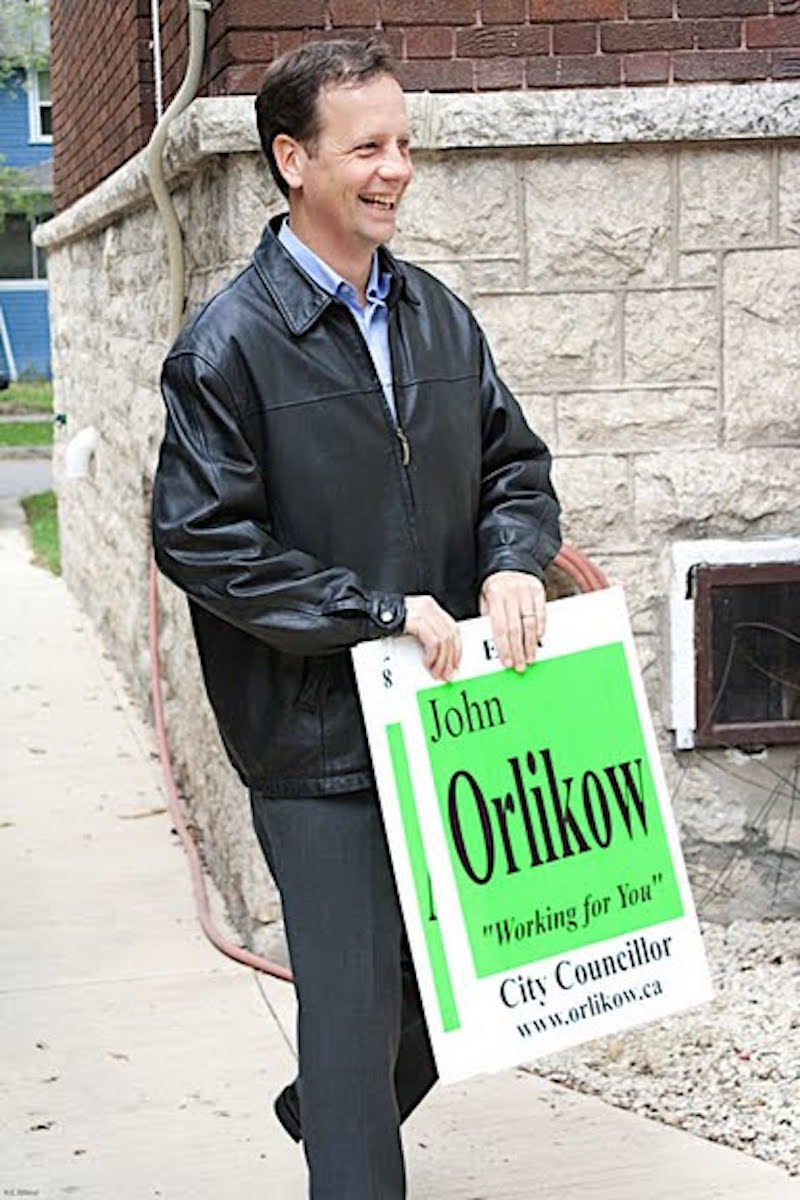 John Orlikow campaign sign