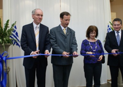 Ribbon cutting for Hellenic Cultural Centre